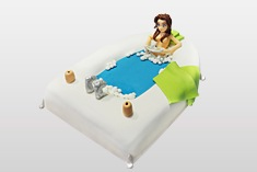 Tort spa jacuzzi