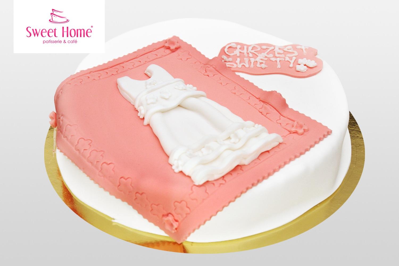 Tort Na Chrzciny Dla Dziewczynki Na Zamówienie Z Dostawą Do Lokalu